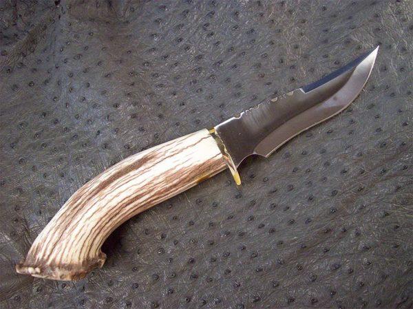 Elk Antler B6 Stainless Steel Blade Knife